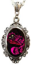 Alkemie Alice in Wonderland CHESHIRE cat Cameo Pendant Necklace