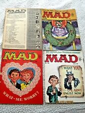 Three MAD MAGAZINES from 1959 ~ 44, 45, 48 ~ Kelly Freas covers (1 w/Uncle Sam)