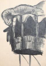 VIntage ink drawing gazebo