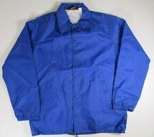 Wranger Vintage Sport Rain Jacket Men's Size Medium Windbreaker Royal Blue