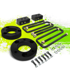 """2""""F SPACER+2""""R BLOCK LEVELING LIFT KIT FOR 04-17 FORD F150 4WD 4X4 TRUCK BLACK"""
