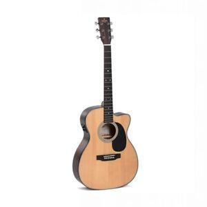 Sigma 000MC-1STE+ Acoustic Guitar w/ Solid Sitka Spruce Top Cutaway & Pickup