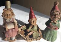 Set of Three Tom Clark Gnomes Thimbelina Bubble Sitter and Chorus Singer