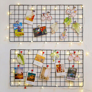 Home Wall Decoration Iron Grid Decor Photo Frame Postcard DIY Wall Art Display