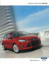 2012 Ford Focus Sales Literature Piece Brochure Advertisement Options