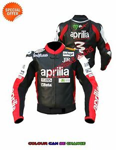 Men racing leather jacket perforated motorbike jacket ce armours aprili jacket