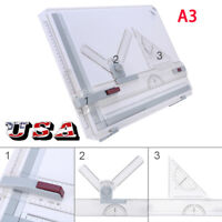 Architect A3 Drafting Drawing Board  Ruler Table Adjustable Angle Tool Set  US