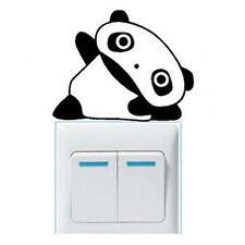 New Cute Small Yoga PANDA Wall Sticker Light Switch Decor Decals Home Art Vinyl