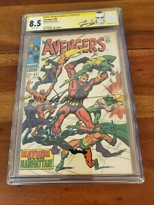 Avengers 55 CGC SS 8.5 Stan Lee Label 1st Ultron 1968