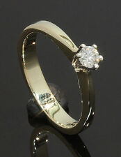 9 Carat Yellow Gold Diamond Solitaire Ring 0.10ct Size J 1/2 (80.17.263)