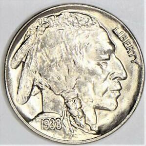 1938-D Buffalo Nickel; Lustrous Gem BU