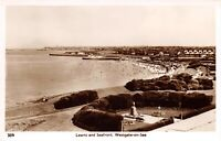 Vintage Kent Real Photo Postcard, Lawns and Seafront Westgate on Sea AP4