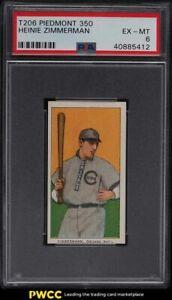 1909-11 T206 Heinie Zimmerman PSA 6 EXMT