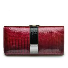 Women Luxury Genuine Leather Wallet Clutch Long Coin Card Holder Purse Handbag