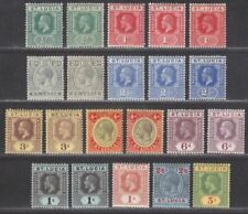 St Lucia 1912 King George V Set Mint SG78-88 with Shades cat £80+