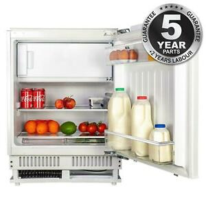 SIA RFU102 Built In White Built In Integrated Under Counter Fridge With Ice Box