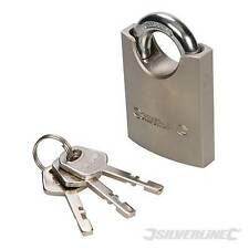 Shrouded Padlock 50mm Solid steel body with brass locking cylinder