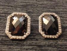 Sterling Silver Diamonique Clip Earrings 20.2 Grams