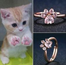Cat Kitty Paws Ring - Rose Jewelry for women - Pet Lover Rings
