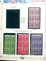US #730b/804b/806b/807a MNH Booklet Panes CV$54.50 1932-1939