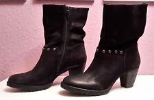 Details zu SPM Stiefeletten Kendall Ankle Boots black schwarz Leder mit Blumen NEU