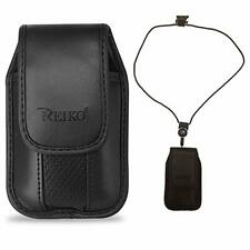 Around the neck Black case and lanyard fits Doro 7050 FLIP phone