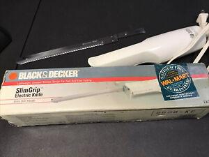 Slim Grip Electric Carving Knife, Black and Decker, Model EK100, Mid 1990s