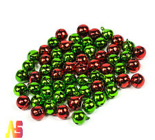 100x  Christmas Jingle Small Red Green Bells Bead Charms Christmas Craft 12mm UK