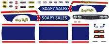 Larry Huff's Soapy Sales Dodge 1/64th Ho Scale Slot Car Decals
