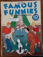 Famous Funnies #18 (Eastern Color) beautiful white pages.  Buck Rogers