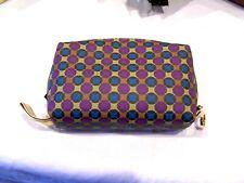 MAC cosmetics bag/lipstick holder, purple blue yellow