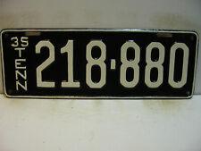 1935 Tennessee License Plate   218 - 880     Repainted  long    Vintage  as5161