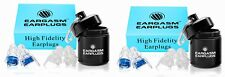 2 Sets of Pre-Owned Eargasm High Fidelity Earplugs-Reduce Noise By Up to 21 Dbs