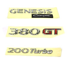 HYUNDAI GENESIS COUPE 2010 2011 2012 2013 2014 OEM Rear Trunk Emblem 3EA 1Set