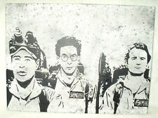 Canvas Painting Movie Ghostbusters Trio Team Speckled Art 16x12 inch Acrylic