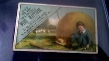 1890 BUY THE BEST INVINCIBLE WIRE MATTRESS VICTORIAN graphic TRADE CARD