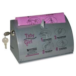 Stout Tidy Girl Feminine Hygiene Bags Dispenser - Abs Resin - 1each - Smoke Gray