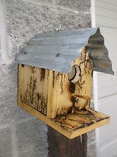 "Wood Bird House ""Arc Art"" Decorated.Unusual! Handmade"