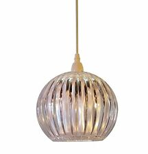 Kliving Lancia Ceiling Light Shade Clear Acrylic Non Electric Pendant Night New