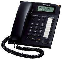 Panasonic KX-TS880B Single Line Corded Phone - Black