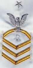 UNFINISHED Insignia US NAVY DRESS PETTY OFFICER PATCH Rate Chevron chief  female