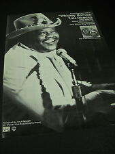 Fats Domino from Blueberry Hill to Whiskey Heaven 1980 Promo Poster Ad