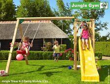 Parco gioco TOWER-SWING in legno torretta con estensione altalena Jungle Gym