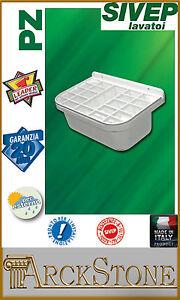 ARCKSTONE Pilozzo Lavabo Vasca Bagno Griglia Polipropilene Bianco Sivep 55x38x27