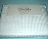 Sferra Elyse Stripe White Queen 4 PC Sheet Set 300 TC Egyptian Cotton Sateen New