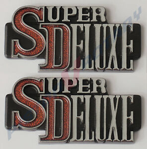 SUPER DELUXE ,2 Badges (pair) New for MAZDA RX3 Coupe Rotary 10A 13B 12A RX2