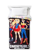 DC Super Hero Girls Twin/Single Comforter Harley Quinn, Bat Girl, Super Girl, Wo