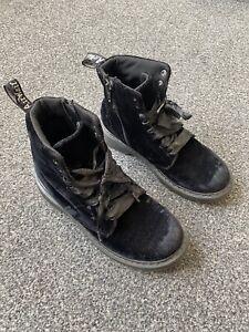 Dr Martens Velvet Boots Size UK 3