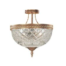 Crystorama 3 Light Brass Crystal Ceiling Mount 10x12' - 118-10-OB