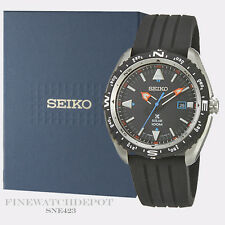 Authentic Seiko Men's Prospex Black Silicone Strap Solar Watch SNE423